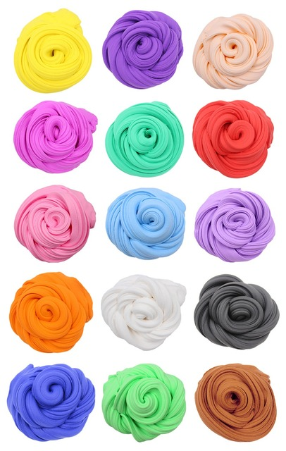 15 Colors Cloud Slime Supplies Toddler Soft Super Light Clay Fluffy Kids Toys for Children Play Dough Birthday Cheap Gift 20g