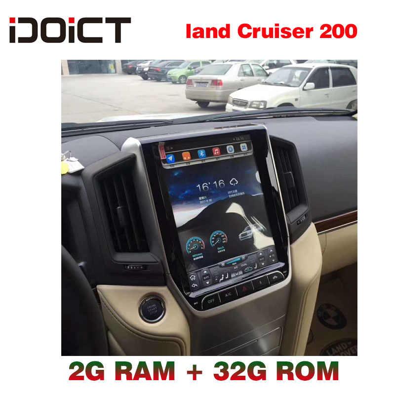 IDOICT TESLA Android 6,0 2G + 32G reproductor de DVD del coche GPS de navegación Multimedia para Toyota Land Cruiser Prado radio 200, 2016-2017