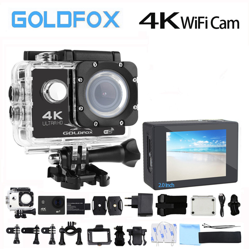 4K Camera HD Sport Action Camera Wifi 170D Angle Go Waterproof pro Helmet Camera H9 Style Bike Camera Video Recording Camera