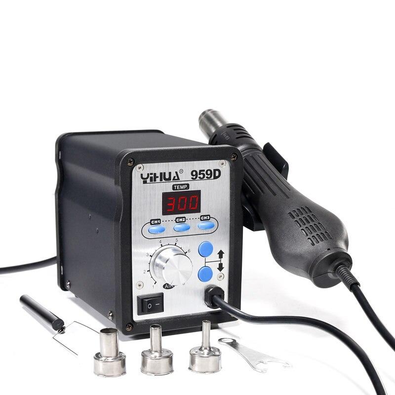 YIHUA 858D kuumaõhu SMD ümberehitusjaama soojuspüstol SMT - Keevitusseadmed - Foto 4