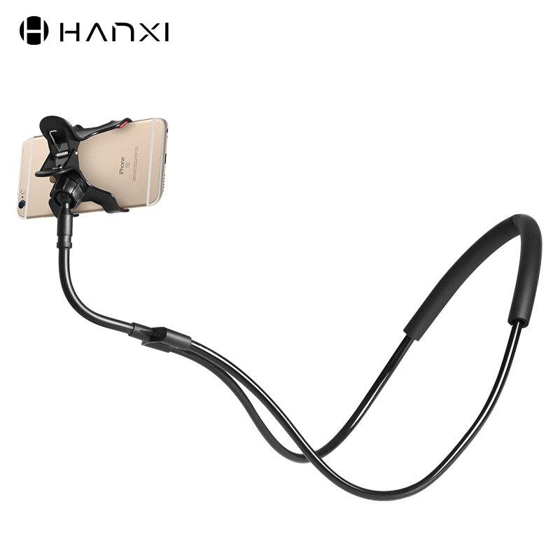 Neues Update Faul Hals Telefon Halter Für iphone Xiaomi Universal 360 Grad Rotation Flexible Telefon Halterung Schreibtisch Halter Stehen