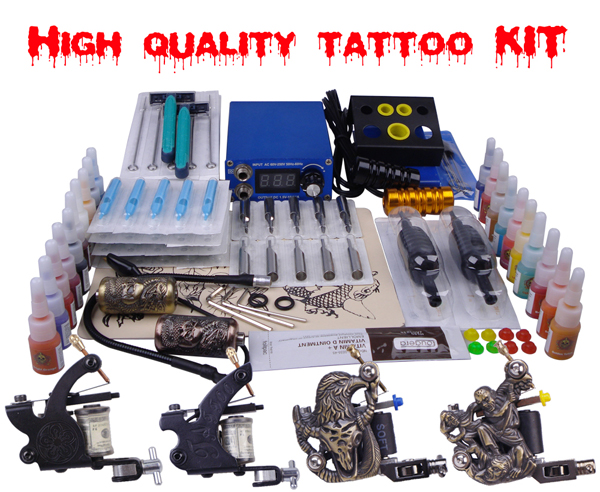 tattoo machine kits for sale makeup permanent machine set 4 digital ...
