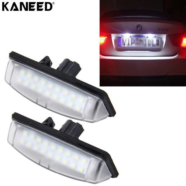 kentekenverlichting voor toyota camry 18 smd 3528 led auto auto nummerplaat lampen licence verlichting voor