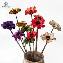 MiHuaGe 2 Branches Dried Flowers Sunflower Wedding Flower Shop Supplies Decor Artificial Preserved Fresh