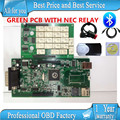 DHL10pcs /lots Bluetooth 2015.1 free active new vci TCS cdp pro plus with NEC RELAY green pcb cdp pro same as wow snooper