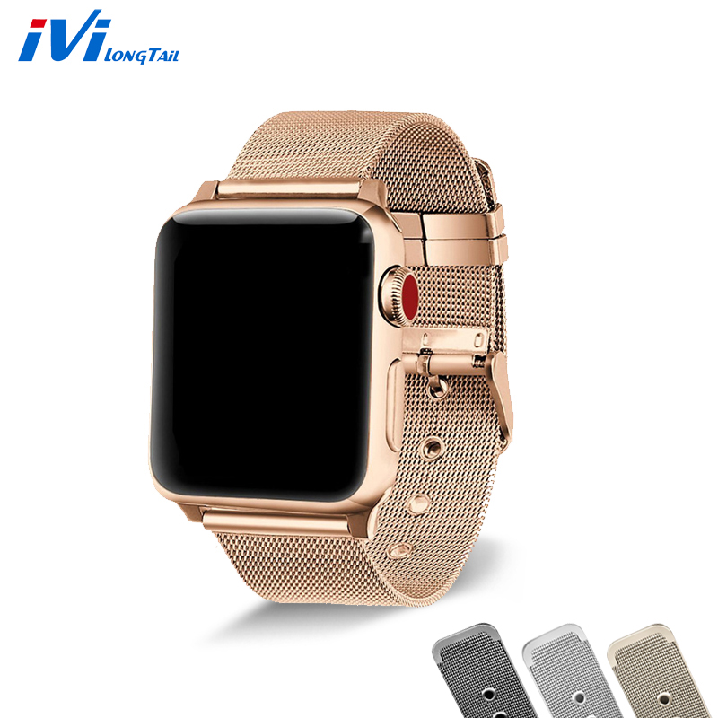 For Apple Watch Band Case 38mm 42mm Series 3 2 1 Milan Loop Adjustable Classic Metal For ...