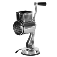 Rotary Cheese Grater Food Mills With Suction Base Cup & 1 Drum Blade for Cheese Grating and Nut Grinder