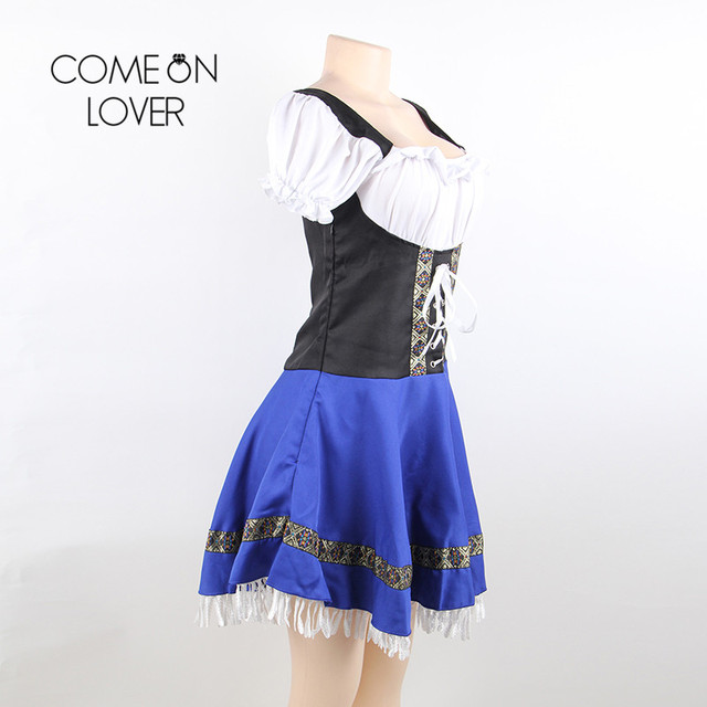 Comeonlover German Beer Girl Costume Dress Plus Size 7XL Maid Lingerie Costume Sexy Femme Cosplay Halloween Fancy Dress CI80705 4