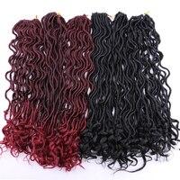 Angie волос Синтетический мягкий искусственный Locs вьющиеся вязаный крючком плетение волос 20 дюймов 100 г/упак. 24 пряди/пакет Богиня прическа