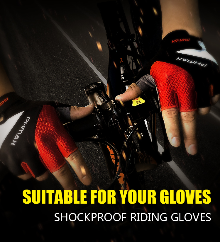 MTB Cycling Bike Bicycle Silicone Gel Pad Gloves Shockproof Half Finger Gloves B