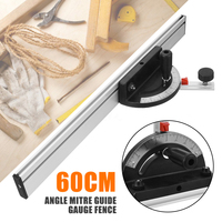 60cm Accurate Woodworking Angle Protractor Mitre Guide Gauge Fence Table Saw Router Angle Ruler Gauge Machinery Measurement Tool