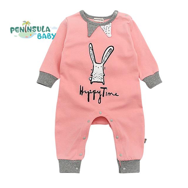 Bebé de Los Mamelucos Lindos Del Bebé Niños Niñas Ropa Roupas de Bebe Recién nacido Bebé Infantil Del Resorte Del Bebé Mono de Los Niños Sobretodo