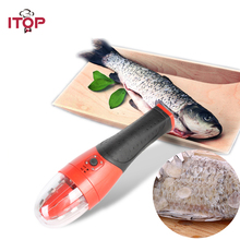 ITOP Electric Fish Scaler 110V/220V Rechargeable Waterproof Handheld with Protector Fish Tool цена и фото