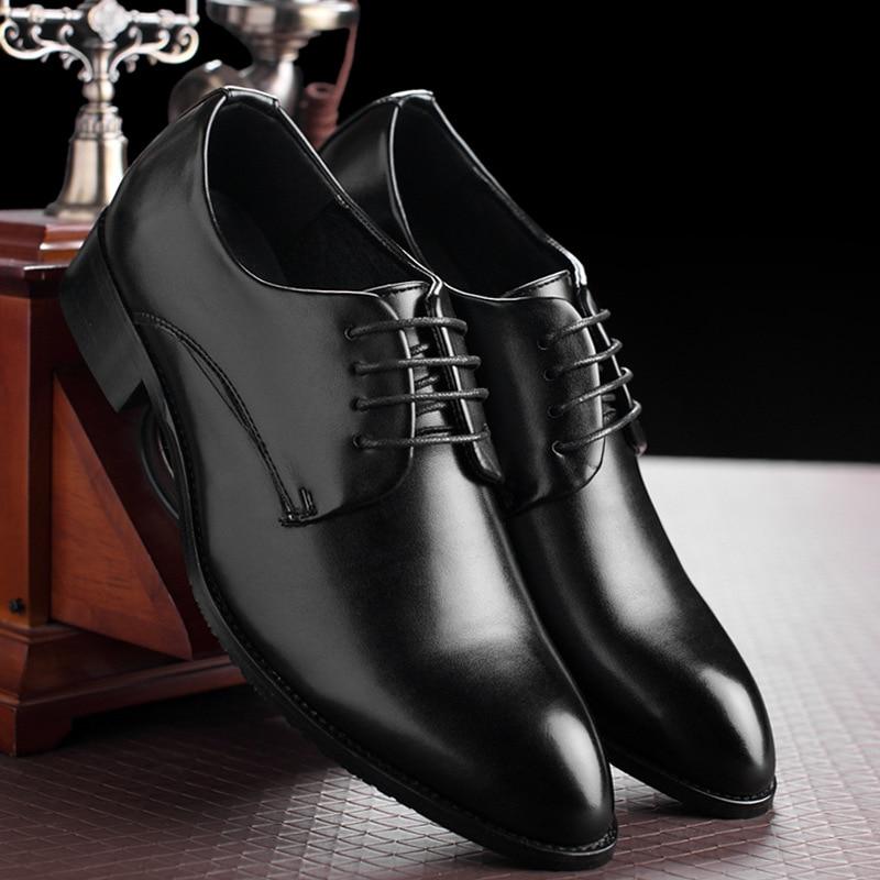 bccb56ae293807 Cheap M anxiu zapatos de negocios formales de cuero negro clásico con  cordones para hombre zapatos