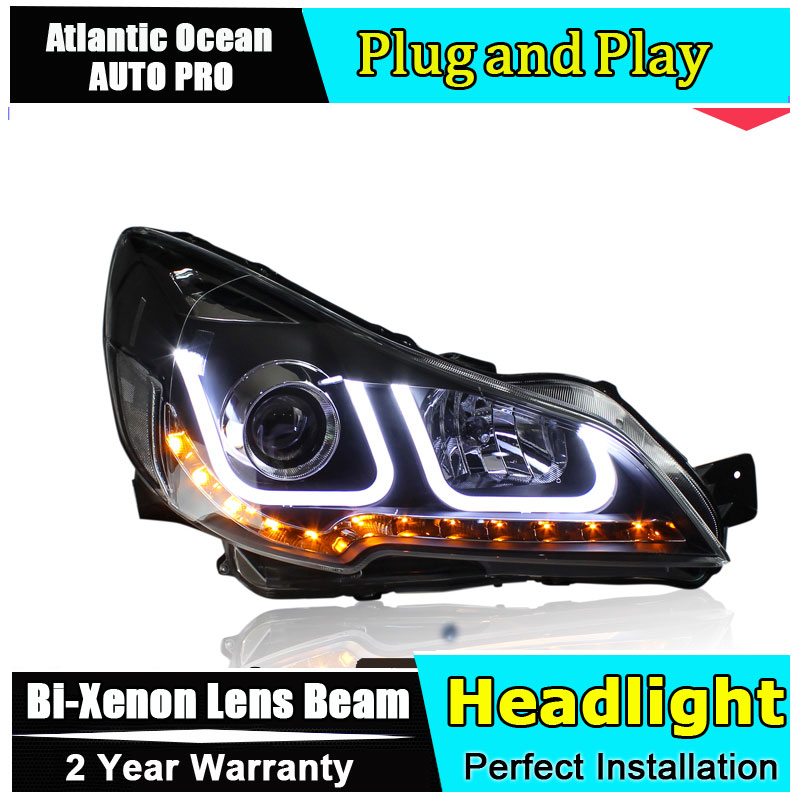 car styling For outback headlights U angel eyes 2010-2013 For outback Bi-xenon Double lens HID KIT car styling for vw jetta headlights u angel eyes 2012 2017 for sagitar bi xenon double lens hid