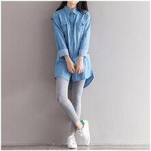 Autumn Spring Denim font b Shirt b font Size L XL Jeans font b Shirt b