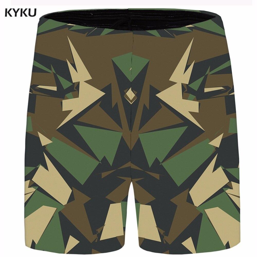 KYKU Brand Camo Short Men Graphic Beach Shorts Plus Size Cargo Gothic Casual Shorts Cool Anime Mens Short 2018 Summer Hawaii