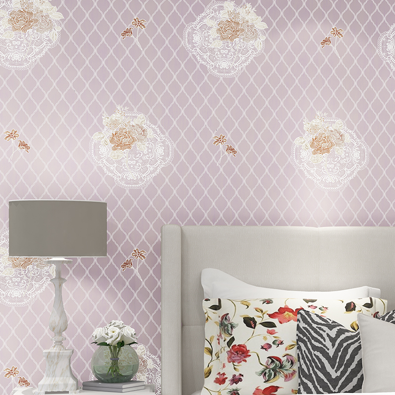 New Modern Flower Wall Paper Roll Embossed Europe Luxury 3D Wallpaper For Living Room Tv Background Pink Blue Paper zxqz 65 3d pattern wallpaper luxury wall pater for living room for hall cheapest paper for the wall 2015 new arrival hot selling