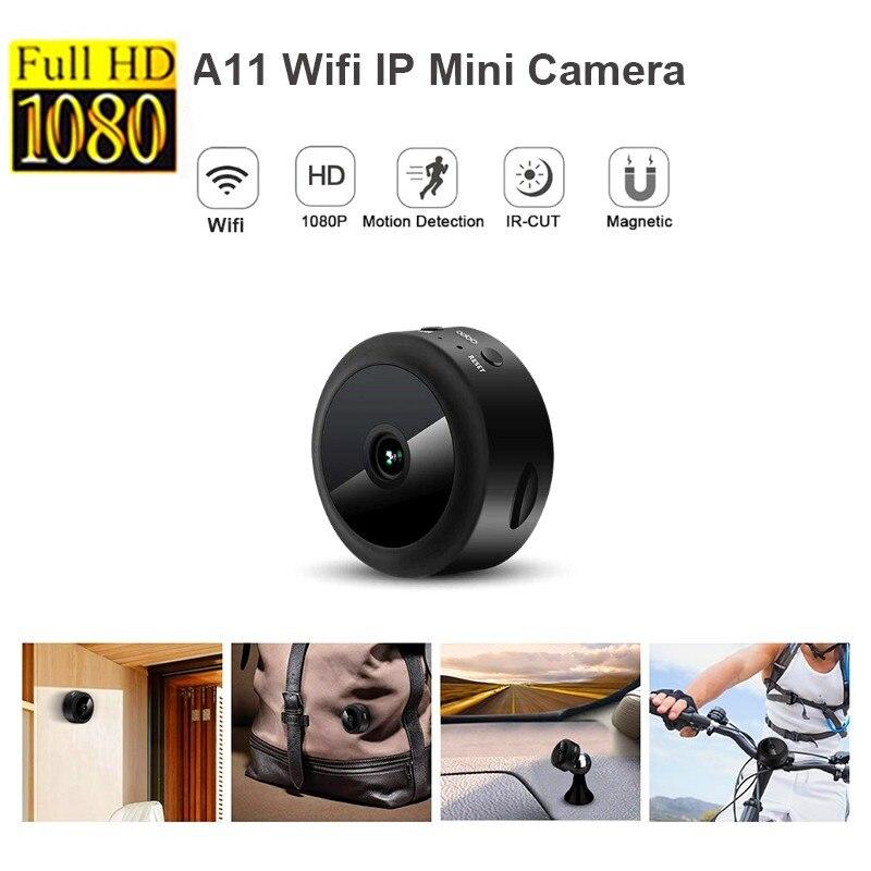 A11 Wifi IP mini caméra Full HD 1080 P Secret Caméra IR vision nocturne micro caméra caméra de détection de mouvement Cachée par Appui TF Carte