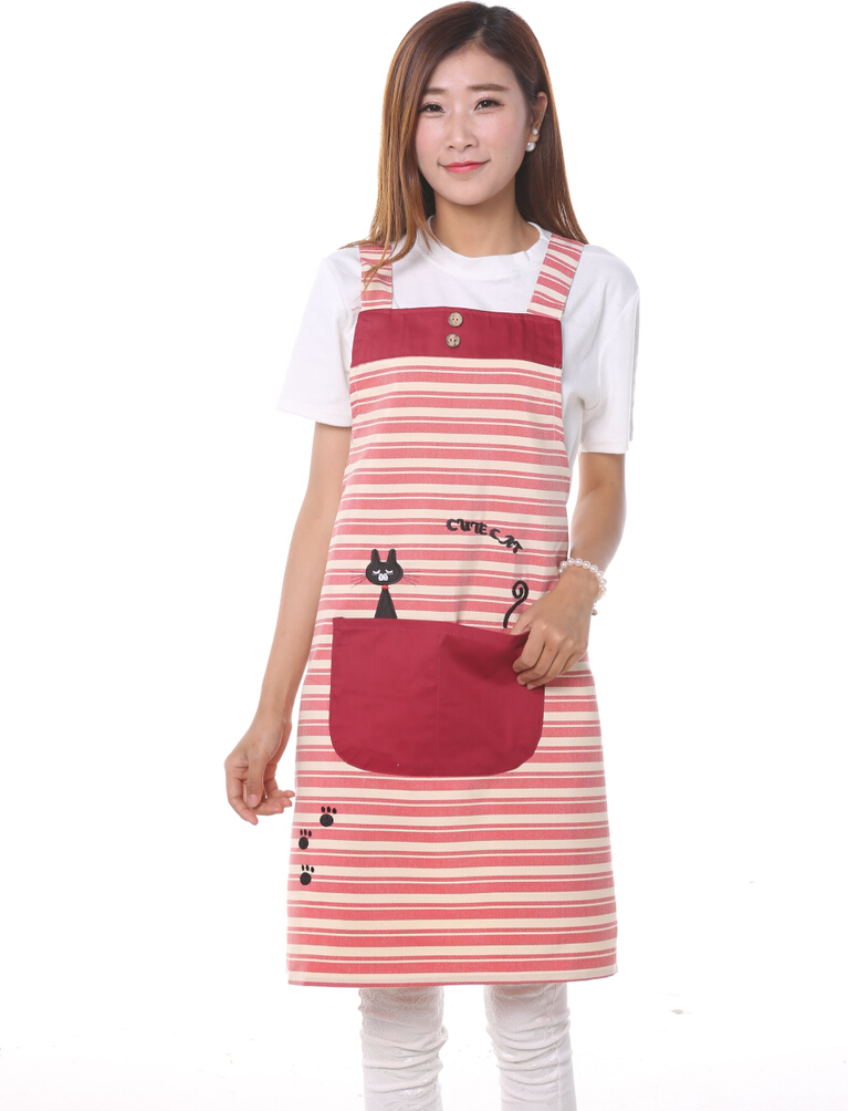 HOT SALE cute cat aprons for man and woman work kitchen stylish pinafore apron overalls