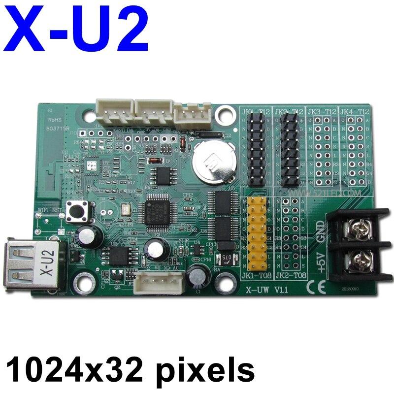 X-U2 светодиодный контроллер USB 1024*32 пикселей беспроводной светодиодный контрольная карта для P10, F3.75, f5.0 светодиодный модуль текста движущийся знак