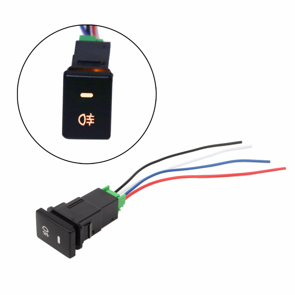 Dc 12v Front Rear Fog Light Push Switch 4 Wire Button For Toyota Camry Tow Bar Wiring Prius Corolla Car Auto New C45 In Switches Relays From Automobiles