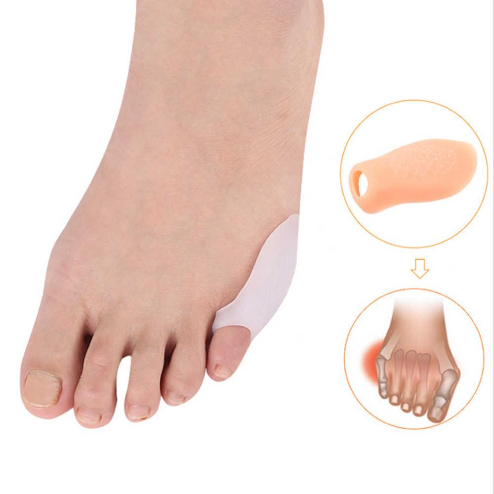 1 זוג קטן הבוהן מחליק מפריד זרת הבוהן מגיני פיקה מתקן Pad כאב הקלה עבור גברים נשים רגל טיפול