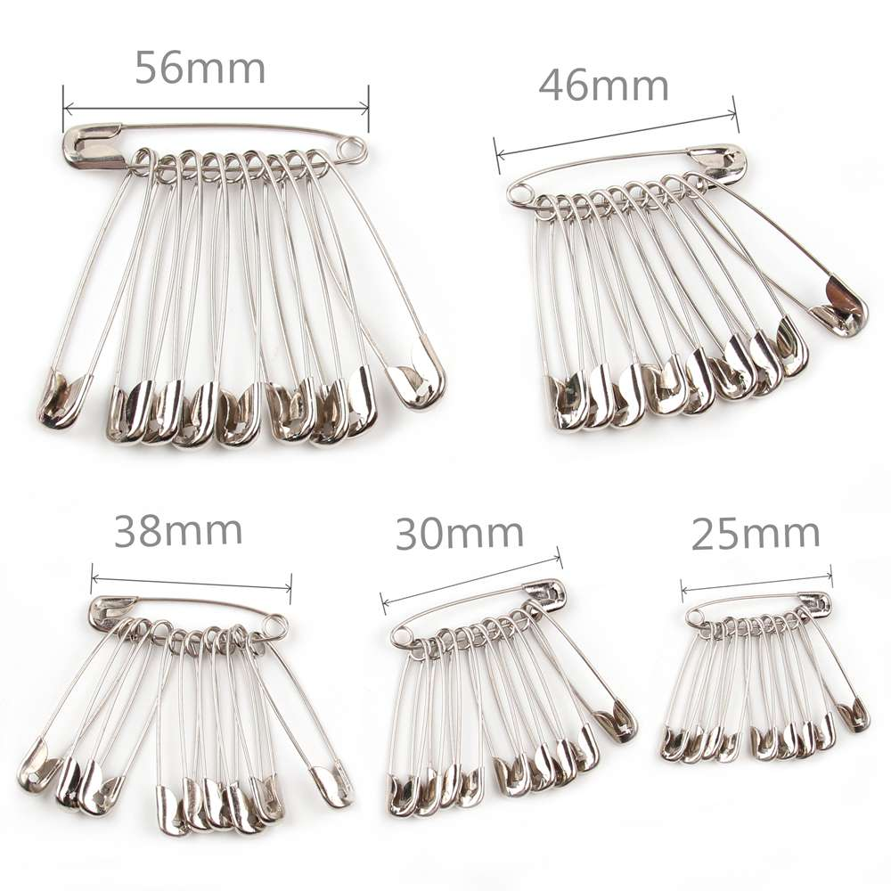 100pcs Silver Safety Pins DIY Sewing Tools Accessory Stainless Steel Needles Large Safety Pin Small Brooch Apparel Accessories