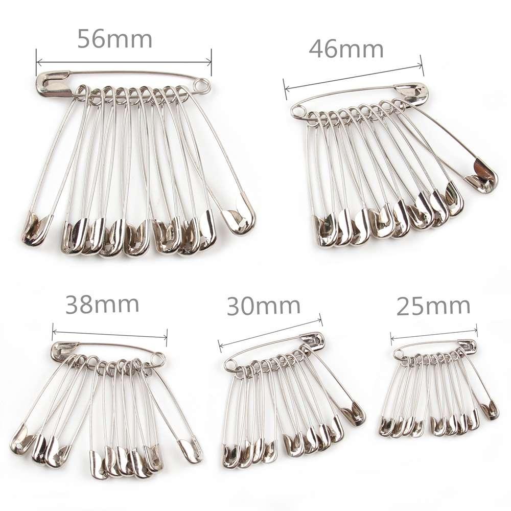 100 pçs prata pinos de segurança diy ferramentas de costura acessório agulhas de aço inoxidável grande pino de segurança pequeno broche acessórios do vestuárioPinos e almofadas   -