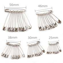 100pcs Silver Safety Pins DIY Sewing Tools Accessory Stainless Steel Needles Large Safety Pin Small Brooch Apparel Accessories(China)