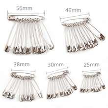Broche de segurança prata para costura diy, acessório de segurança, agulhas de aço inoxidável, broche pequeno de segurança, acessórios de vestuário, 100 peças