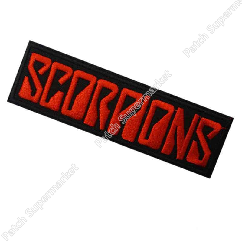 4 5 SCORPIONS Red Logo Music Post Hardcore Band Embroidered IRON ON and SEW ON Patch