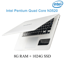 """P1-06 white 8G RAM 1024G SSD Intel Pentium N3520 14 laptop notebook keyboard and OS language available for choose"""""""
