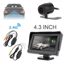 4.3 Inch HD Resolution 2-Channel Video Input TFT-LCD Car Monitor with 2.4G Wireless Transmitter and Rear View Camera