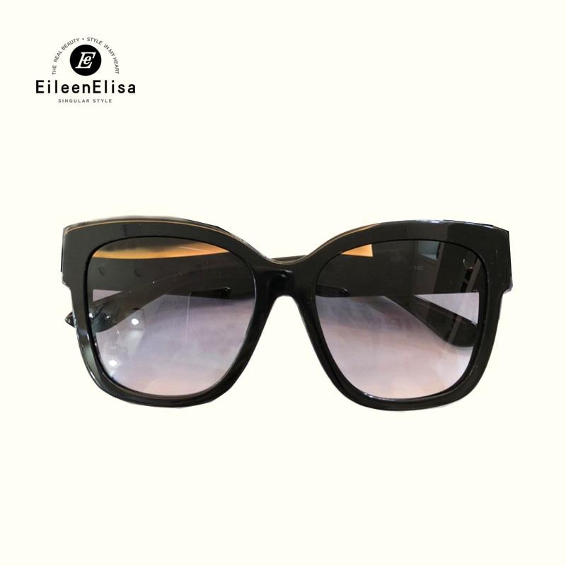 Vintage Big Size Frame Cat Eye Sunglasses 2018 Fashion High Quality Brand Design Sun Glasses Polarized UV400 Protection Eyewear 2016 sunglasses women girls cat eye sun glasses famous lady brand design butterfly coating mirror eyewear oculos feminino cc1899