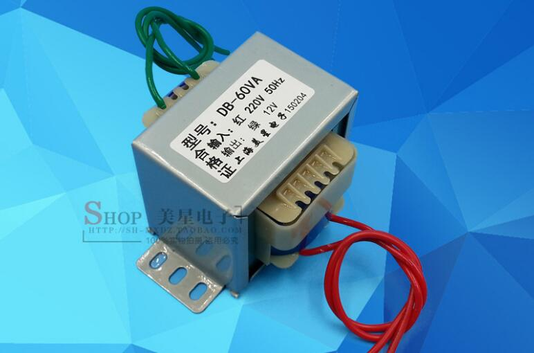 12V 5A Transformer 60VA 220V input EI66 Transformer power supply transformer 22v 0 22v 1 35a transformer 220v input 60va ei66 40 multimedia active speaker constant voltage power amplifier transformer
