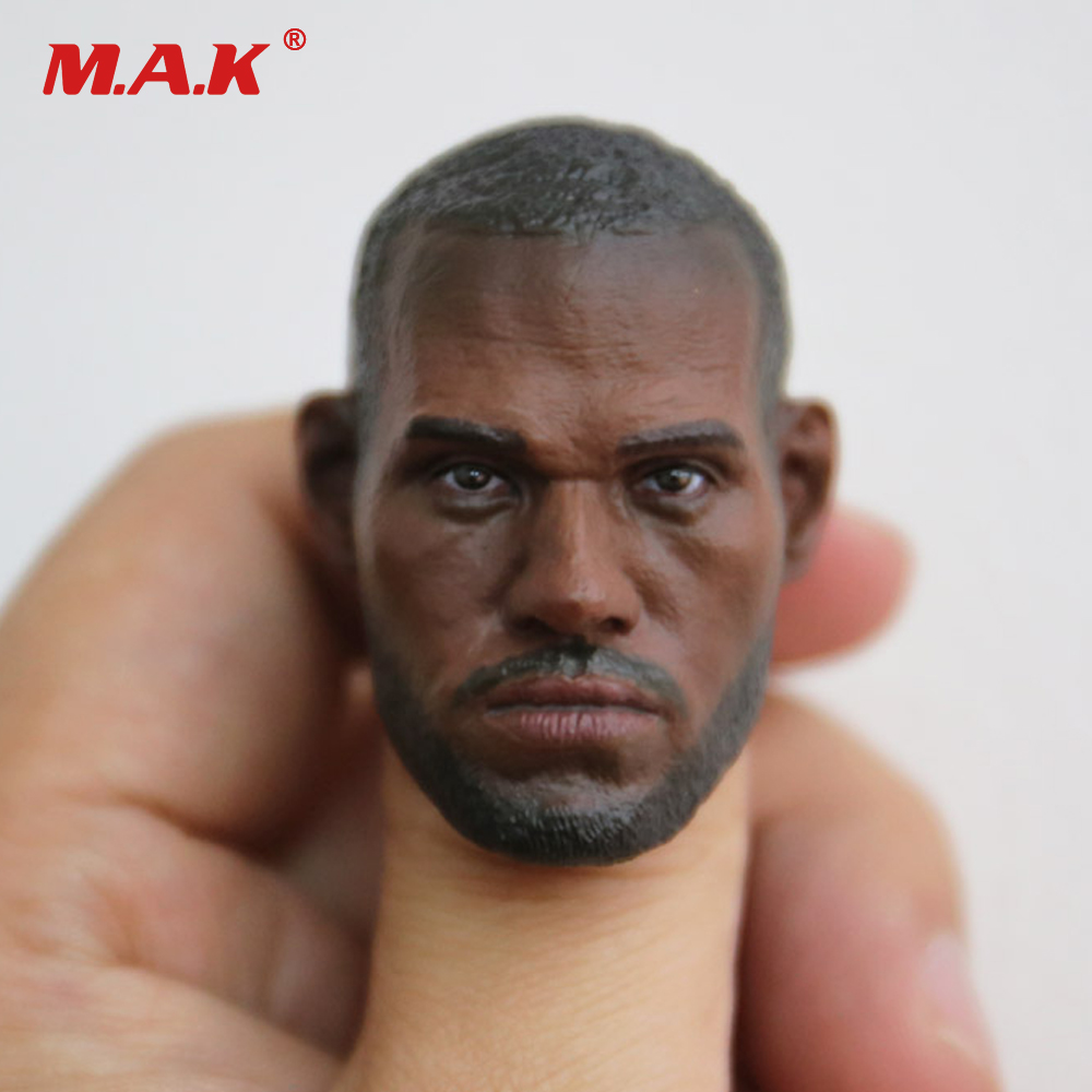 1/6 Scale Man Head Sculpt Basketball Player King LeBron James Head Carving fit 12 inches Male Action Figure Body 1 6 scale male king leonidas calm face head for 12 male head carving model fit 12 action figure body doll toys accessories