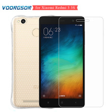 VOONGSON Tempered glass for Xiaomi Redmi 3 s 3s 16 / 32 gb Phone Protector Cover Case Glass