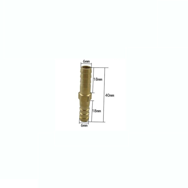 6mm Brass Connector Copper Pagoda Joint Straight-through Type Quick Plug Hose Gas Air Pipe Fitting