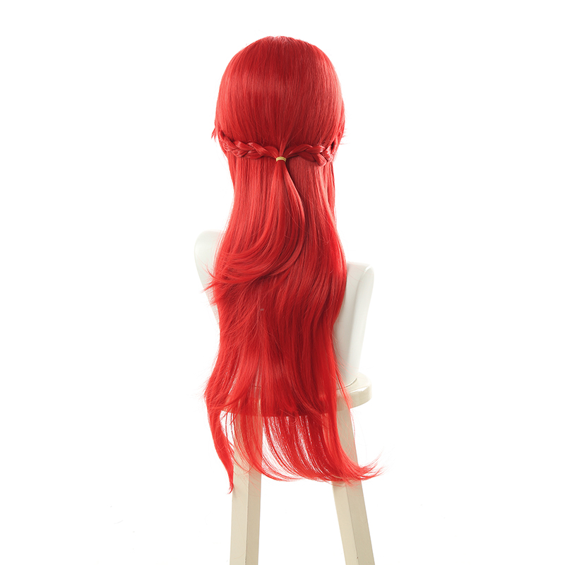 L Email Wig Lol Lux Cosplay Wigs Battle Academia Prestige Lux Cosplay Wig Game Women Hair 70cm Long Red Synthetic Hair Perucas