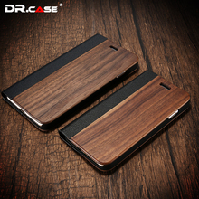 DR.CASE For iPhone 7 Case Fundas Vintage Natural Wood Business Mobile Phone Case For iPhone 7 7 Plus Card Slot Wallet Cover
