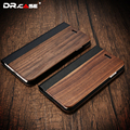 Dr. case para iphone 7 case fundas de madera natural de la vendimia de negocios móvil teléfono case para iphone 7 7 plus ranura para tarjeta cubierta de la carpeta