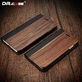 Dr. case para iphone 7 case fundas madeira natural vintage negócio móvel phone case para iphone 7 7 plus slot para cartão carteira capa