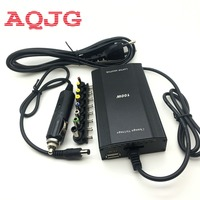 Metal Universal Adapter For Laptop In Car DC Charger Notebook AC Adapter Power Supply 100W With