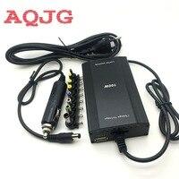 Metalen Universele Adapter voor Laptop In Car DC Charger Notebook AC Adapter Voeding 100 W met sigarettenaansteker Ac kabel AQJG