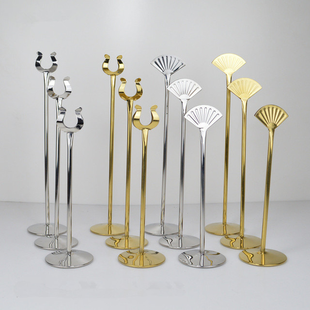 Large Size 101214 Inch Tall Stainless Steel Table Number Holders
