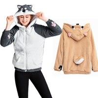 Lolita Girls Cosplay Neko Atsume Shiba Inu Husky Hoodie Coat Cute Dog Pullover Thicken Flannel Hooded Sweatershirts Drop Ship