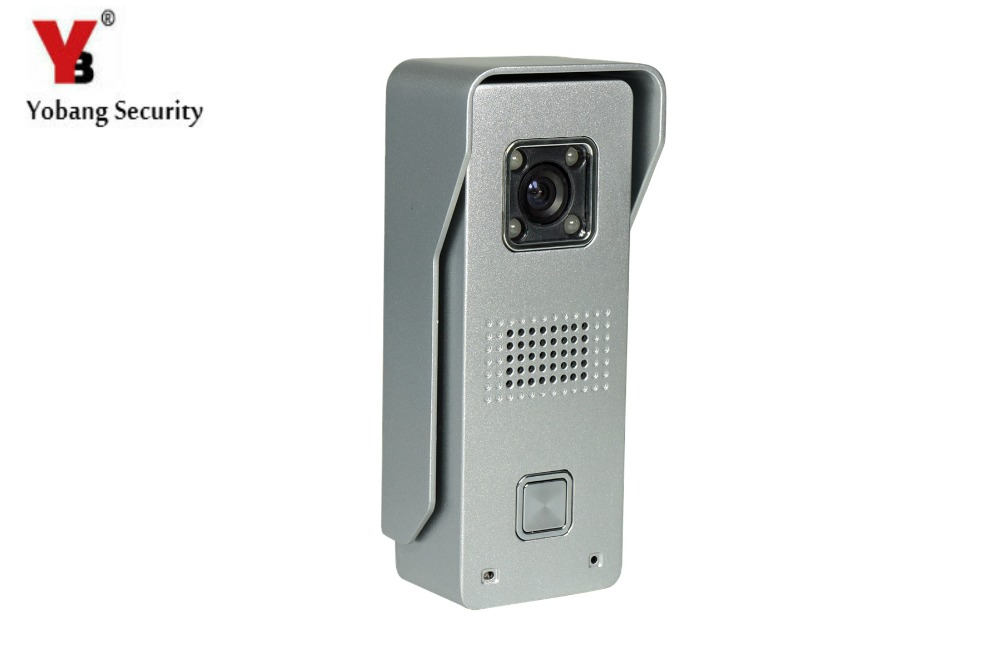 YobangSecurity Metal Case Waterproof IR Night Vision Camera For Video DoorPhone Video Intercom Home Doorbell System 7 inch video doorbell tft lcd hd screen wired video doorphone for villa one monitor with one metal outdoor unit night vision