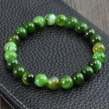 Yeni moda çakra Strand bilezik yeşil şerit denge boncuk buda namaz doğal taş takı Yoga boncuk kadınlar için bilezikler