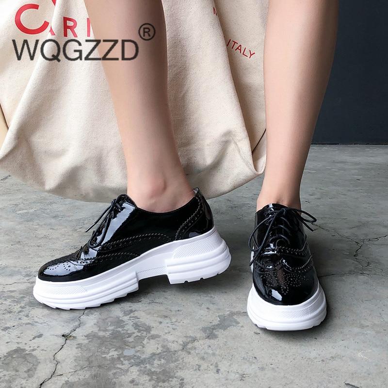 Brouges Épais Zapatos Chaussures Appartements Color forme Cuir Casual Mujer Femmes Plate Femme Véritable Chaussure gray Color Black Rétro Rc543LqAj